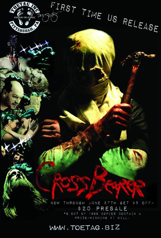 Toe Tag poster for 'Cross Bearer'
