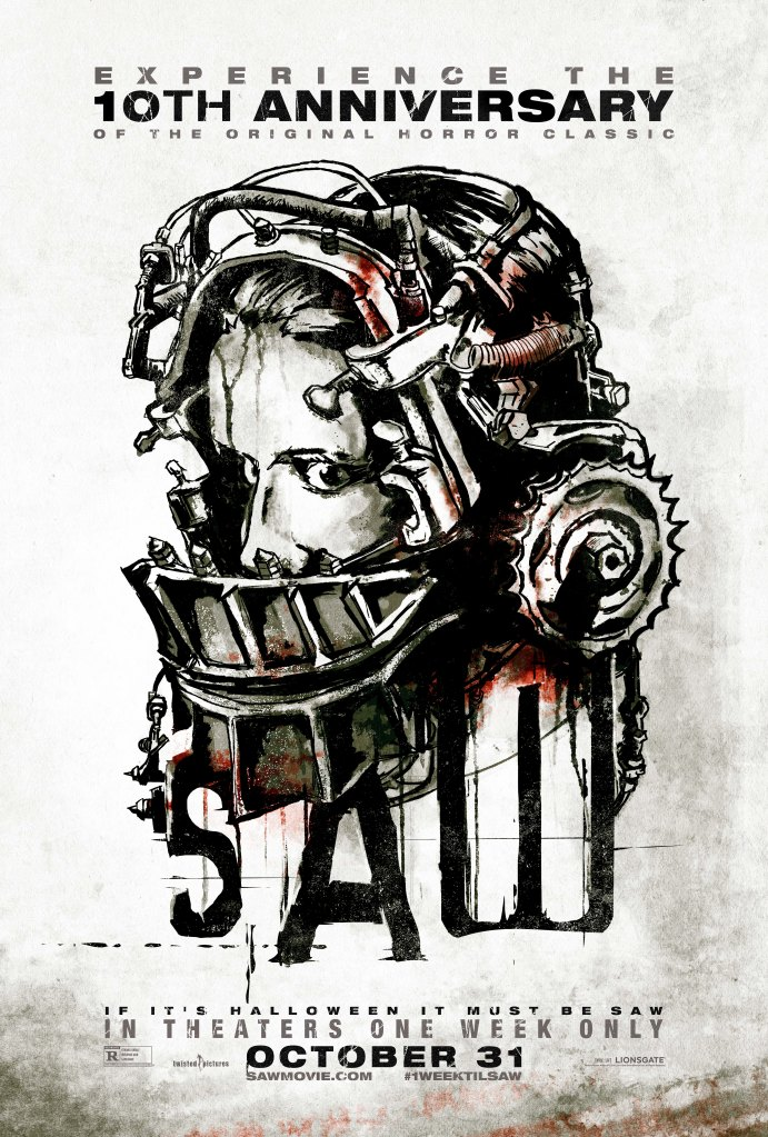 4th poster for SAW 10th anniversary in theaters this Halloween