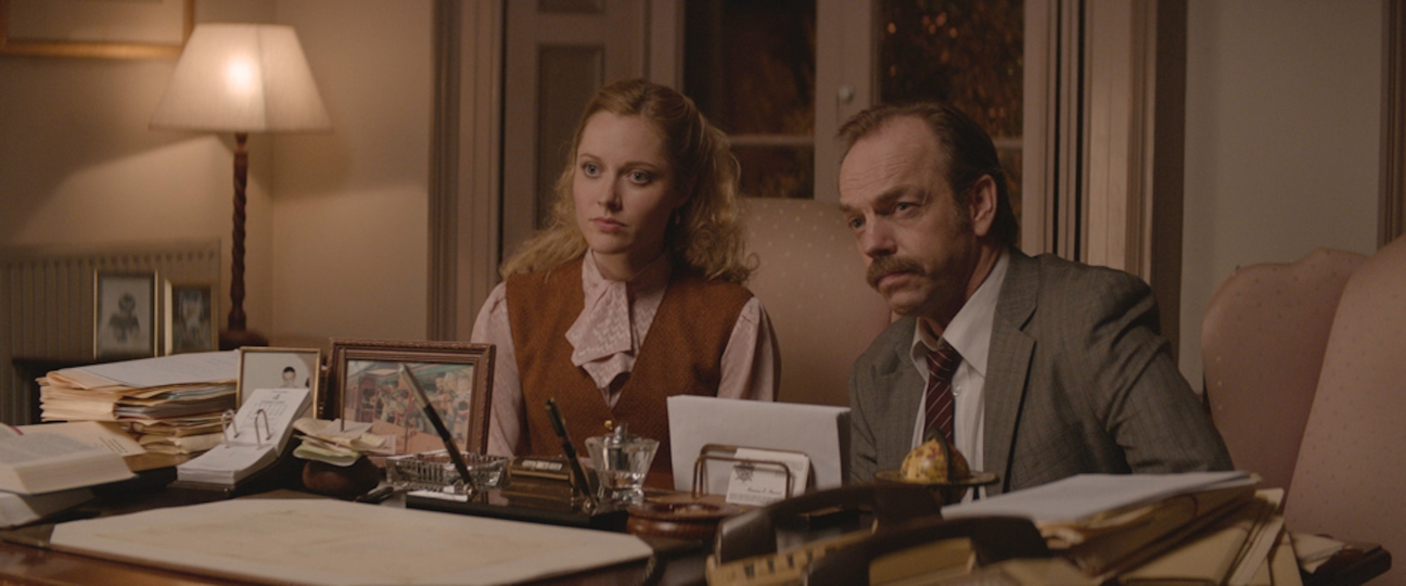 "(L-R) Georgina Haig and Hugo Weaving in the thriller ""THE MULE"" an XLrator Media release. Photo courtesy of XLrator Media."