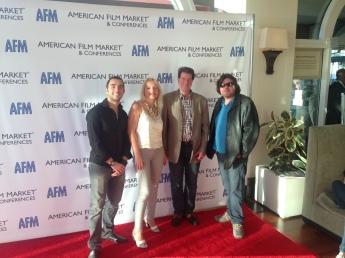 Keith Barrows, Tatyana Bulgakova and Aziz Tazi with Partner Frank Meyer