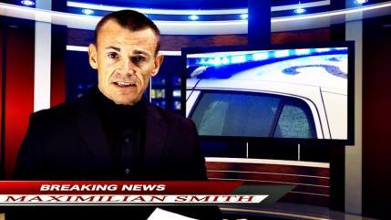 Kim Sonderholm stars as News Anchorman Maximilian Smith in HOUSE OF MANY SORROWS