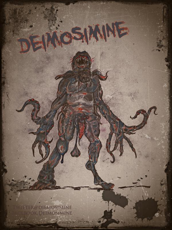 Concept art and DVD cover for DEIMOSIMINE
