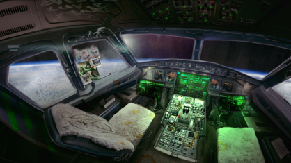 A look inside the ship of SPACE RIPPERS