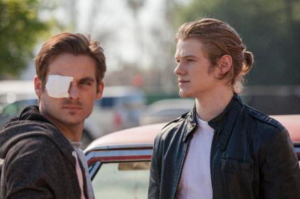 "(L-R) Kevin Zegers as Chuck and Lucas Till as Bobby in the thriller film ""THE CURSE OF DOWNERS GROVE"" an Anchor Bay Entertainment release.  Photography credit: Bryan Giardinelli."