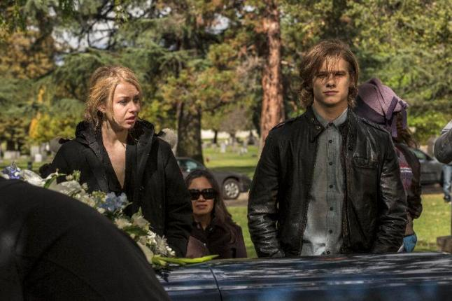 """Penelope Mitchell as Tracy and Lucas Till as Bobby in the thriller """"THE CURSE OF DOWNERS GROVE"""" an Anchor Bay Entertainment release. Photography credit: Bryan Giardinelli."""