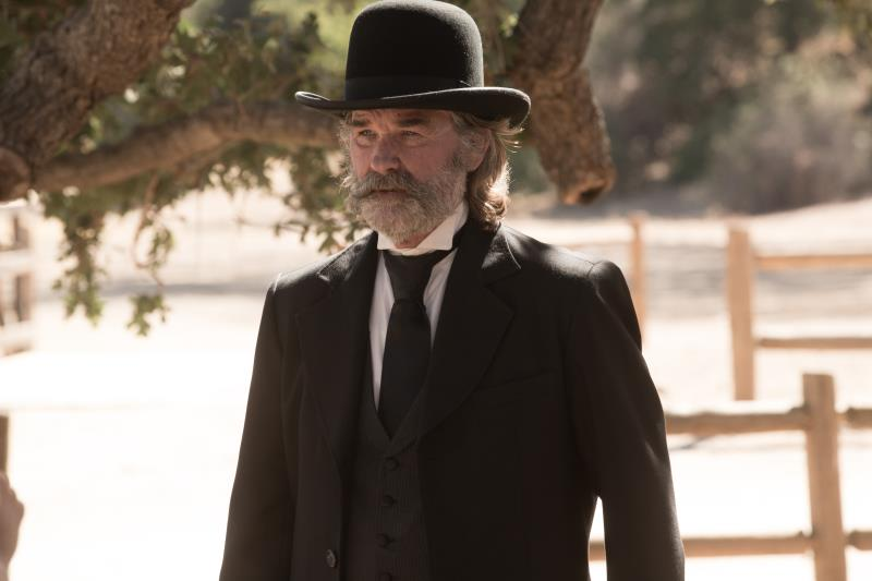"Kurt Russell as Sheriff Franklin Hunt in the western film ""BONE TOMAHAWK"" an RLJ Entertainment release. Photo credit: Scott Everett White."