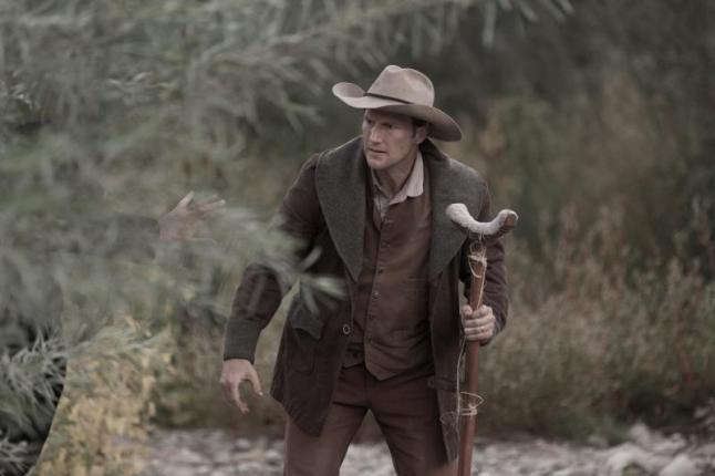 "Patrick Wilson as Arthur O'Dwyer in the western film ""BONE TOMAHAWK"" an RLJ Entertainment release. Photo credit: Scott Everett White."