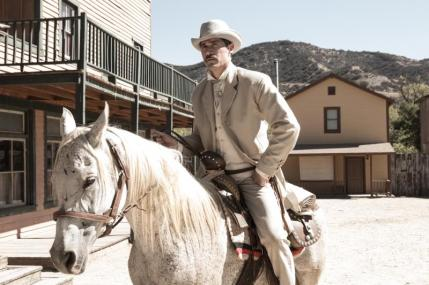 "Matthew Fox as John Brooder in the western film ""BONE TOMAHAWK"" an RLJ Entertainment release. Photo credit: Scott Everett White."