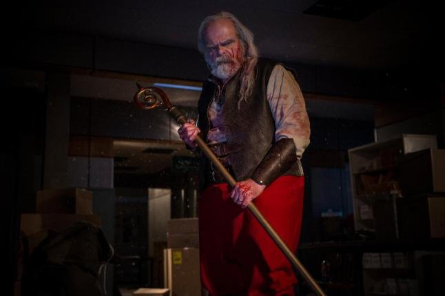 """George Buza as Santa in the horror film """"A CHRISTMAS HORROR STORY"""" an RLJ Entertainment release. Photo credit: RLJ Entertainment."""
