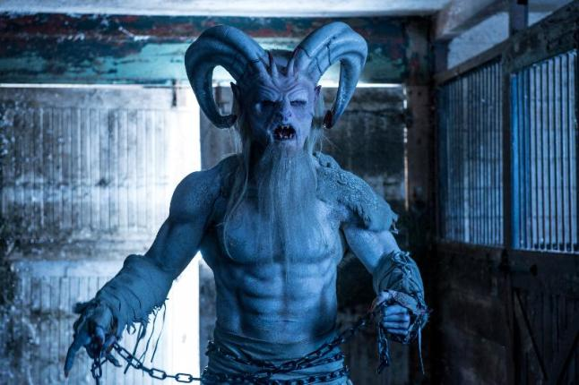 """Rob Archer as Krampus in the horror film """"A CHRISTMAS HORROR STORY"""" an RLJ Entertainment release. Photo credit: RLJ Entertainment."""