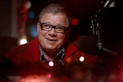 "William Shatner as Dangerous Dan in the horror film ""A CHRISTMAS HORROR STORY"" an RLJ Entertainment release. Photo credit: RLJ Entertainment."