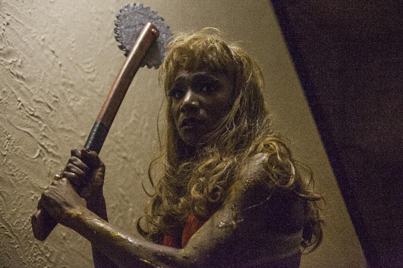 "Kevin Smith Kirkwood as Roxy in the horror film ""CONDEMNED"" an RLJ Entertainment release. Photo credit: Paul Sarkis."