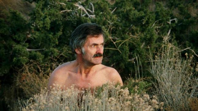 Dangerous_Men-My-Clothes: A woebegotten truck driver (John Drake) finds himself in the desert without his clothes in Drafthouse Films' Dangerous Men. Courtesy of Drafthouse Films.