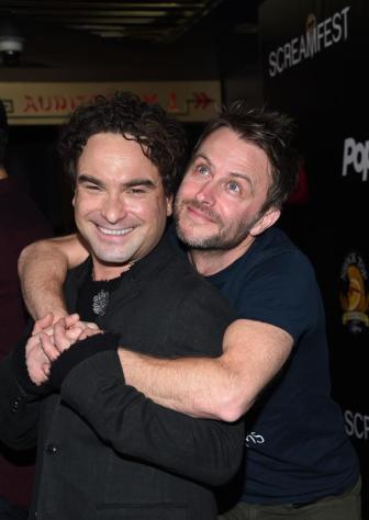 (L-R) - Johnny Galecki and Chris Hardwick