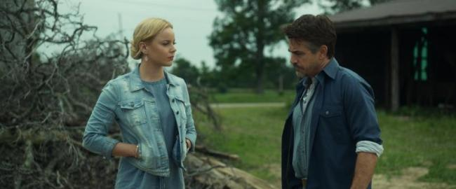 """(L-R) Abbie Cornish as Jane and Dermot Mulroney as Patrick in the thriller film """"LAVENDER"""" an AMBI Media Group release. Photo courtesy of AMBI Media Group."""