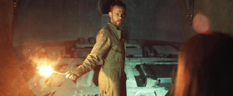 "Dominic Monaghan as Robinson in the sci-fi thriller film ""ATOMICA"" a Syfy Films release. Photo courtesy of Syfy Films. Atomica_Key_Set_02.jpg"