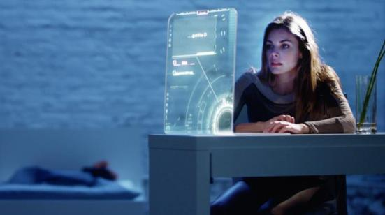 """Sarah Habel as Abby in the sci-fi thriller film """"ATOMICA"""" a Syfy Films release. Photo courtesy of Syfy Films."""