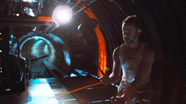 "Dominic Monaghan as Robinson in the sci-fi thriller film ""ATOMICA"" a Syfy Films release. Photo courtesy of Syfy Films."