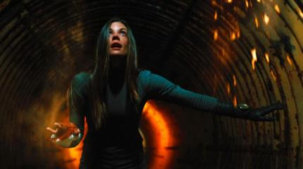 "Sarah Habel as Abby in the sci-fi thriller film ""ATOMICA"" a Syfy Films release. Photo courtesy of Syfy Films."