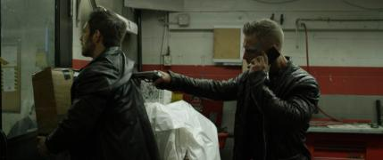 "[L-R] James Clayton as Luke Harding and Scotty Mac as Scotty in the supernatural thriller ""RESIDUE"" an XLrator Media, IndustryWorks Studios and Motorcycle Boy Productions release. Photo courtesy of XLrator Media, IndustryWorks Studios and Motorcycle Boy Productions."