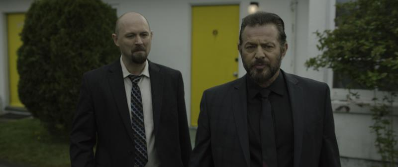 "[L-R] Michael Matic as Boston and Costas Mandylor as Jacob in the supernatural thriller ""RESIDUE"" an XLrator Media, IndustryWorks Studios and Motorcycle Boy Productions release. Photo courtesy of XLrator Media, IndustryWorks Studios and Motorcycle Boy Productions."