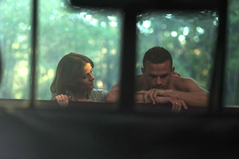 """(L-R) Brit Shaw as Brinn Howarth and Cam Gigandet as Gabriel Howarth in the action thriller """"THE SHADOW EFFECT"""" a Momentum Pictures release. Photo courtesy of Momentum."""