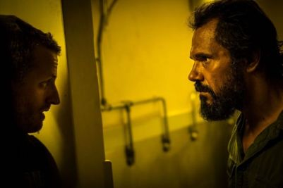 "(L-R) Aaron Glenane as Chook and Aaron Pedersen as German in the horror/thriller film ""KILLING GROUND"" an IFC Midnight release. Photo courtesy of IFC Midnight."