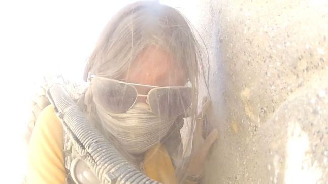 Morgan (Sarah Hester) in a Desert Storm