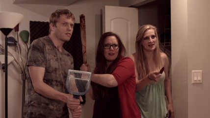 Zack (Peter Ash), Izzy (Jamie Jirak), and Angie (Annie Watkins) deal with some supernatural unpleasantness.